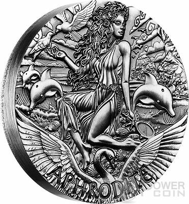 2015 $2 Goddesses of Olympus Aphrodite 2oz Silver High Relief Coin
