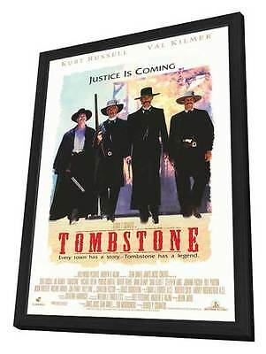 Tombstone Movie POSTER 27 X 40 In Deluxe Wood Frame Kurt Russell, Val Kilmer, A
