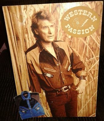 Johnny Hallyday Rare Ancienne Plv Western Passion