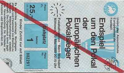 Ticket Barcelona v Sampdoria 1989 European Cup Final