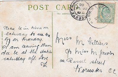 Cape of Good Hope Post Card with Very Rare Large Single Circle Date Stamp