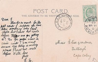Fine used early Valentine's postcard of Cape of Good Hope