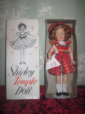 """Rare Mib Vintage Ideal Toy Company 12"""" Vinyl Shirley Temple Doll W/accessories!"""