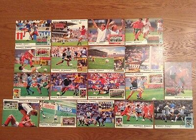 18 x WORLD CUP 1986 FRANKED MATCH POSTCARDS INC ENGLAND BRAZIL GERMANY MARADONA