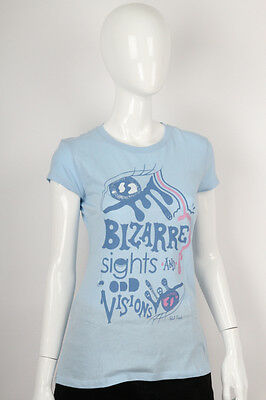 Paul Frank -Large- $29 Ladies Blue Bizarre Sights Odd Visions T-Shirt 142600149