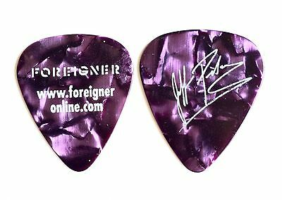 Foreigner Tommy Gimbal  Signature Purple Pearl Guitar Pick - 2010 Tour.