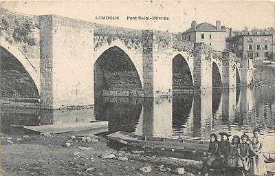 Cpa 87 Limoges Pont St Pierre
