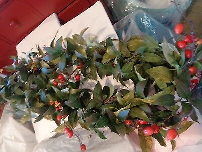 """2 Williams Sonoma Rose Hip Fall Thanksgiving garlands 72"""" New w tag"""