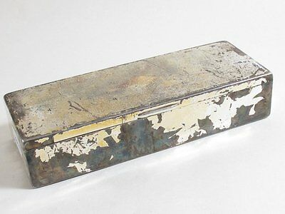 Antique Silver Plate State Express Cigarettes Table Top Box