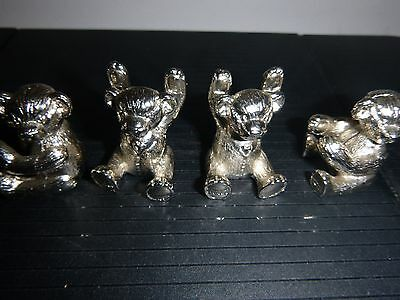 4 No Silver Metal  Collectable Little Bears
