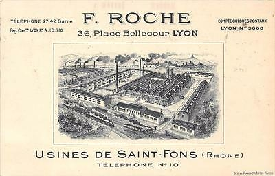 Cpa 69 Usines De Saint Fons F.roche Place Bellecour A Lyon