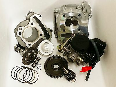 83cc Scooter 100cc Big Bore Kit-Big Valve Head-A9 Cam-20mm Carb-49//17 Gears