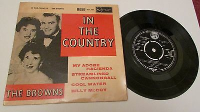 """THE BROWNS 7"""" EP  IN THE COUNTRY 1960 RCA RECORDS MONO RCX-187 made in the UK"""