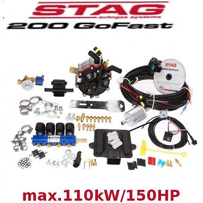 Autogas Conversion kit for 4 cylinders STAG 200 GoFast 110 kW/150 HP LPG (Front)