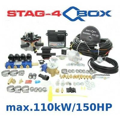 Autogas Conversion kit for 4 cylinders STAG Qbox Plus 110 kW/150 HP LPG