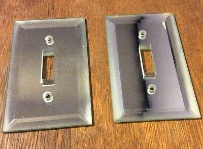 LOT of TWO Vintage BEVEL MIRROR Switch Plate Covers