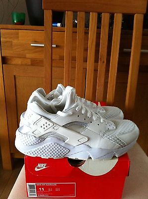 Nike air huarache triple white taille 45 / US 11 // UK 10