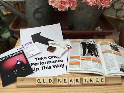 Yoko Ono Whisper Piece TATE Job Lot Sign Ticket Booklet Torch Card Smashed Pot