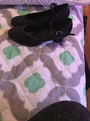 NEW GIRLS BLACK FOLK DANCE SHOES MEXICO MEXICAN FOLKLORICO Size M