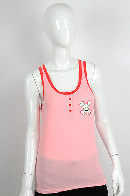 Paul Frank LG $30 Pink Julius & Friends Sleep PJ Stitched Skurvy Sleep Tank Top