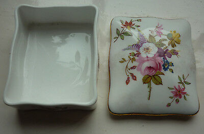 Hammersley Trinket Box and Lid floral pattern