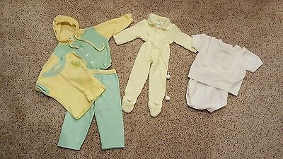 Lot of 6PC Vintage Antique Baby Clothes For Boy & Girl Or A Baby Doll