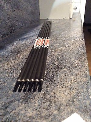 6 x Easton FatBoy arrows - 400 Spine - Used But Good Condition