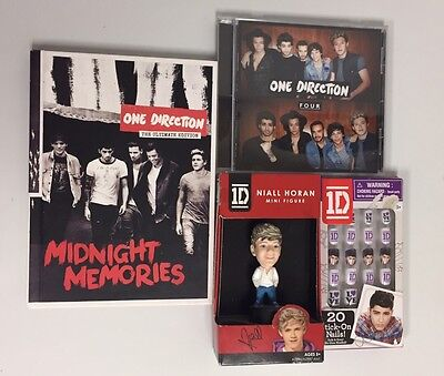 Mixed Lot One Direction Band CDs Bobblehead Book Collectables