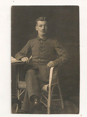 vintage photo pc YOUNG MAN GERMAN SOLDIER .