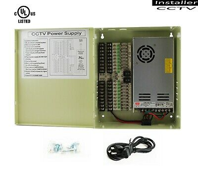InstallerCCTV 18 Output 29 Amp 12V DC CCTV Distributed Power Supply Box