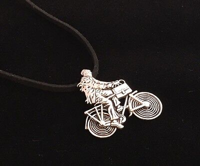 Albert Hofmann Bicycle Day Tribute Pendant in Sterling Silver - Limited -100mics