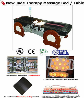 FIR Far Infrared Jade Therapy Bed Spinal Traction Massage Table Chiropractor