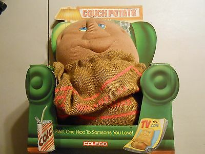 "Vintage 1987 Large Couch Potato in Chair Coleco #8500 17"" Plush Stuffed Toy!!!"
