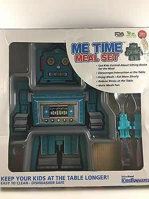 Meal Time Me Time Robot Child Plate Set