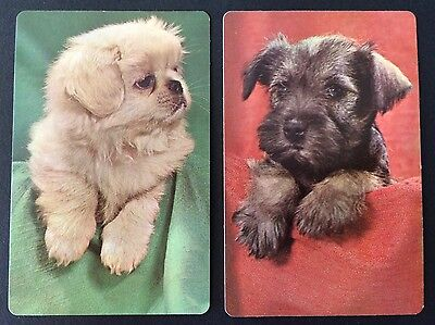 Pair of Vintage Swap / Playing Cards - PUPPY DOGS