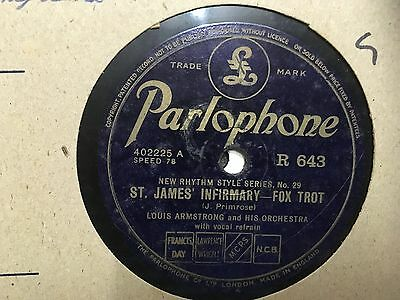 Louis Armstrong / Mackenzie And Condon's Chicagoans Parlophone UK 78RPM