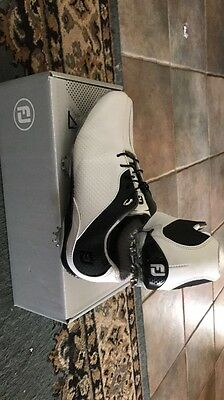 Women's black and white FootJoy golf shoes size 8.5
