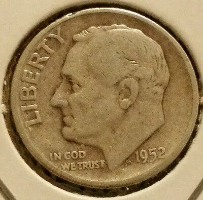 Circulated 1952-S Silver Roosevelt Dime *SILVER DIME*