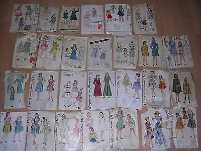 Vintage 1940s 40s Girls Sewing Patterns Lot of 27 sizes 6-14 Dresses Coats Cape