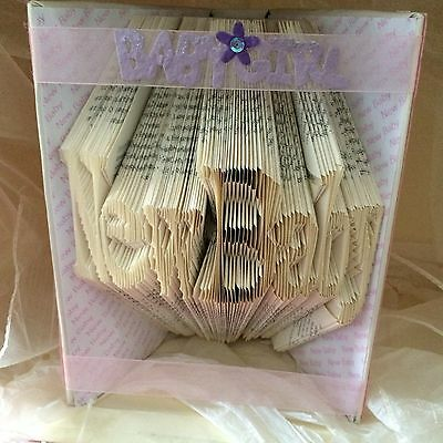 Book folding art pattern New Baby folded book (pattern only)