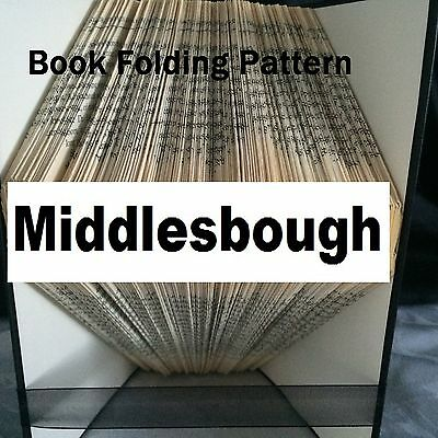 Book folding art Middlesbrough book folded Pattern for any Fan (pattern only)