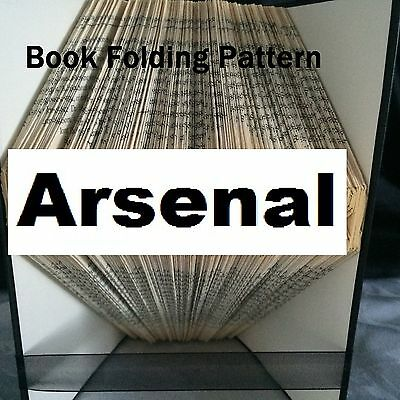 Book folding Arsenal book folded Pattern for any  Fan (pattern only)