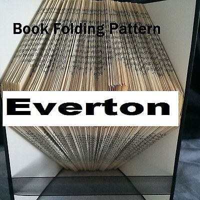 Book folding Everton book folded Pattern for any  Fan (pattern only)