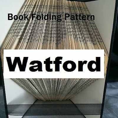 Book folding Watford book folded Pattern for any  Fan (pattern only)