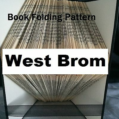 Book folding art West Brom book folded Pattern for any Fan (pattern only)