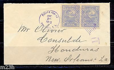 Honduras: Cover sent to New Orleans on 1907 + postage due mark.