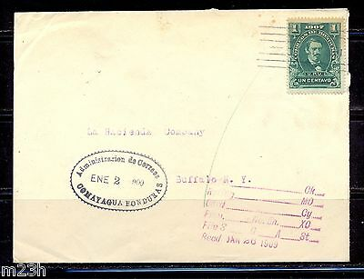 Honduras: Cover sent from Comayagua to Buffalo on 1909. Medina stamp issue.
