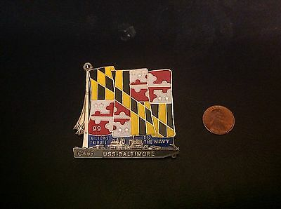 lions Club Pins: USS Baltimore Pin