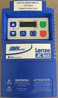 1 HP, 240 V, Lenze AC Tech, Variable Frequency Drive (VFD) w/Modbus New