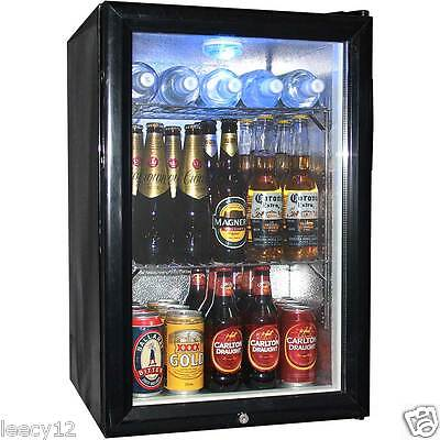 New Bar Fridge - Mini Glass Door - 68 Litre - Lock On Door - Holds 72 Cans